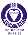 BSI Registered ISO 9001:2000 FS 76392